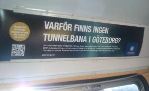 Varför finns det ingen tunnelbana i Göteborg?