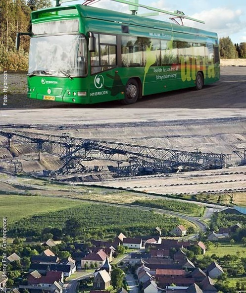 Brunkol i tankarna på elbussarna? (objekten på fotona har ingen inbördes relation)